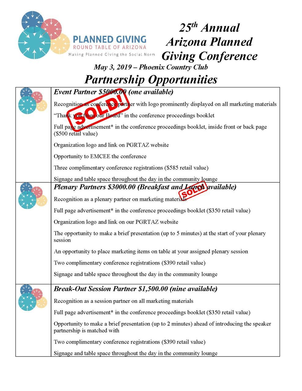 Planned Giving Round Table of Arizona - 2019 Conference